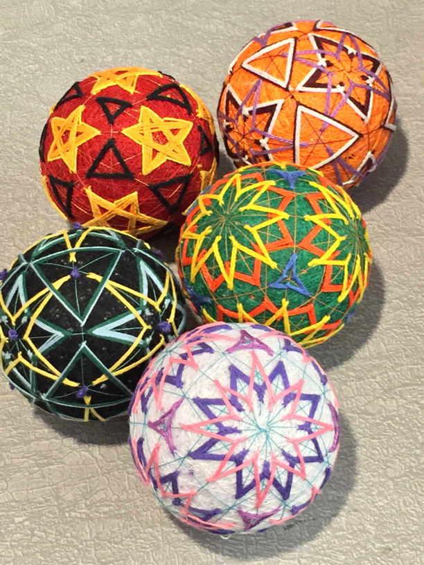 Aviva's 5 temari balls smaller