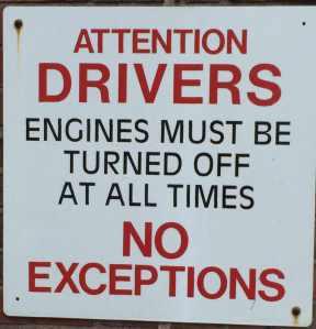 engines turned off